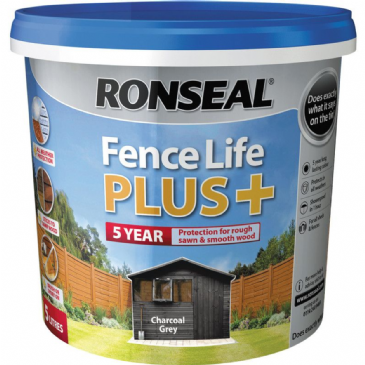 Ronseal fencelife+ Charcoal Grey 5L